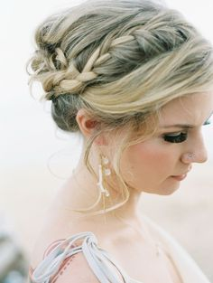 Braided Updo Hairstyles with Bangs