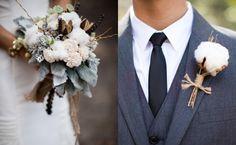 Cotton bouquet and boutonniere Rustic Wedding, Our Wedding, Dream Wedding, Wedding Paper, Wedding Blog, Wedding Stuff, Bride Bouquets, Floral Bouquets, Cotton Bouquet