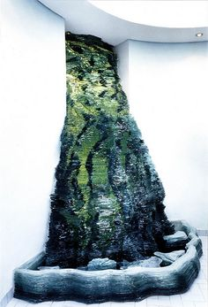#Glass Fountain by Danny Lane, 1988    Stacked float glass   Commissioned by Jan Witchers, Interior Architect, Hamburg