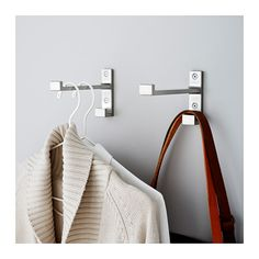 install next to closet syste, with hooks for bags BJÄRNUM Hook  - IKEA