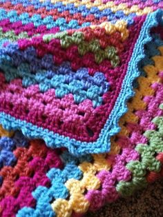 Edge on granny stripes - really want a Granny stripe blanket