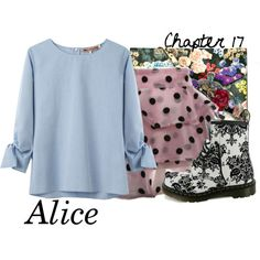 A fashion look from April 2014 featuring zipper shirt, pink skirt and Dr. Browse and shop related looks. Alice In Wonderland Outfit, Alice Cosplay, Disney Inspired Fashion, Disney Outfits, Disneybound, Blue Blouse, Nerd, Fashion Looks, Sophie Hulme