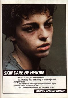 "During the mid-1980s, the controversial ""Heroin Screws You Up"" campaign was…"