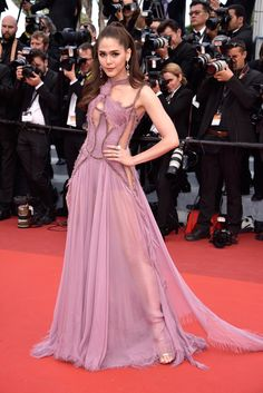 """Araya A. Hargate at the premiere of """"Money Monster"""" at Cannes Film Festival."""