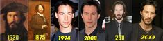 Keanu Reeves through the ages.