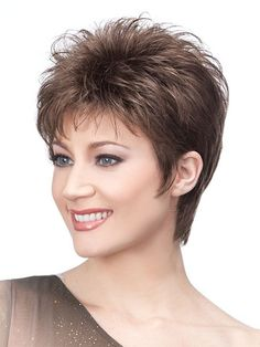 Wigsis provides variety of Brown Boycuts Soft Straight Short Wigs with good customer service and fast shipment, including short curly wigs,short brown wig for customer. Click Visit link above to see more - Wigs buying ideas Short Choppy Hair, Short Curly Wigs, Short Hair With Layers, Short Hair Cuts For Women, Short Pixie, Pixie Cuts, Choppy Cut, Fine Hair, Human Hair Wigs