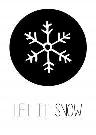 let it snow | Kerstkaart zwart wit