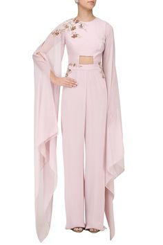 Dusty lilac jumpsuit #indianfashion #indiandesigner #embroidered #ethnicwear #pret #jumpsuit #pinkpeacockcouture #perniaspopupshop #happyshopping