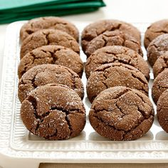 Our Molasses Spice Cookies have a charmingly cracked and crinkle surface with an uncommonly chewy interior and spicy flavor with undertones of dark, bittersweet molasses.