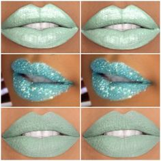 mint green lipstick family by kaoir cosmetics - Superstar Wet Pain, EXCITEMINT Glitzstick™ and EXCITEMINT Lipstick