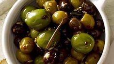 Warm Olives with Rosemary | Live a longer life and lower your risk of health problems by eating foods associated with a Mediterranean diet.