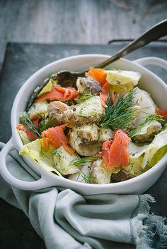 Salad Recipes, Salads, Good Food, Healthy Eating, Ethnic Recipes, Potato Salad, Lettuce Recipes, Salmon, Eating Healthy