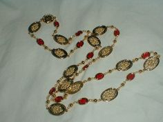 vintage st.john 22 kt.gold plated red by qualityvintagejewels, $225.00