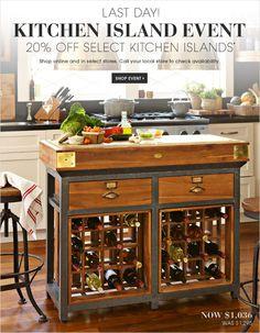 Williams Sonoma - Kitchen Islands