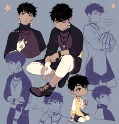 boys with dangly earrings – Character Design Boy Character, Character Creation, Character Drawing, Character Concept, Concept Art, Male Character Design, Character Design Tutorial, Character Ideas, Poses References