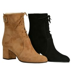 Ella Suede ankle Boots - £249.99 by BlackPearlShoes - Suede leather Upper,     Leather Lining,     Leather and rubber sole,   Round Toe,     6 cm heel,    https://blackpearlshoes.com/collections/womens-designer-ankle-boots/products/ella-suede-ankle-boots