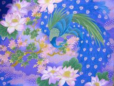 Birds Emperess Garden Peacock fabric by HautMess on Etsy, $21.75