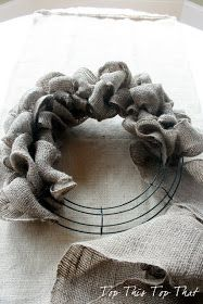 Top This Top That: Burlap Wreath tutorial with lots of different ideas for seasonal/holiday variations