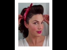 6 PIN UP looks for BEGINNERS ( QUICK and EASY VINTAGE/ RETRO hairstyles) - Vintagious - YouTube - ***The best video I've seen to do very basic pin-up looks, fantastic results with limited effort. -MV*