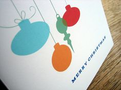 Printable Christmas Card - Ornaments by e.m.papers, via Flickr