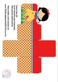 Uau! Veja o que temos para Caixa Cubo 3D Branca de Neve Cute Paper Box Template, Snow White Disney, Baby Shower Crafts, Prince Party, Ideas Para Fiestas, Little Boxes, Red Riding Hood, Print And Cut, Party Themes