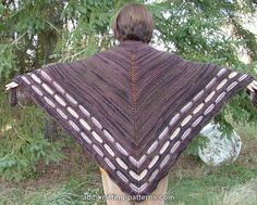 ABC Knitting Patterns - Garter Stitch Shawl with Slip Stitch Border Maybe I'll make this as prayer shawl