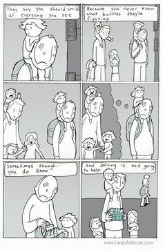 You should smile at everyone you see. Funny Video Memes, Funny Puns, Hilarious, Stupid Funny, Funny Quotes, Cute Comics, Funny Comics, Phd Comics, 4 Panel Life
