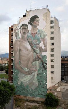 ARYZ http://www.widewalls.ch/artist/aryz/ #Aryz #streetart #murals