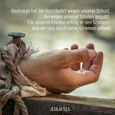 #Doch - man - hat - den - HERR - JESUS - SOHN - GOTTES - DURCHBOHRT - UM -  unserer - Schuld -  willen......