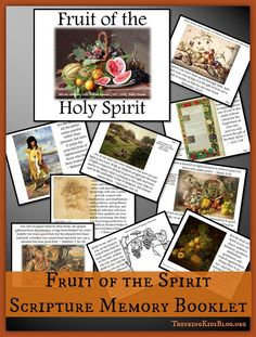 Fruit of the Spirit Scripture Memory Booklet {Subscriber Freebie} Scripture Memorization, Bible Resources, Verses For Cards, Memory Verse, Fruit Of The Spirit, Bible For Kids, Bible Lessons, Booklet, Activities For Kids