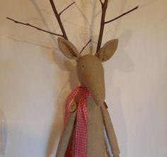 Christmas Reindeer xmas  red brown stuffed toy christmas