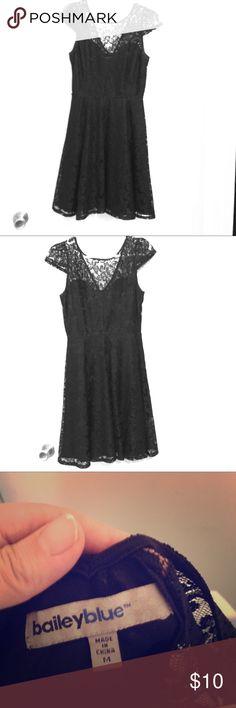 Black Lace Party Dress Black lace party dress, worn once. Bailey Blue Dresses Mini