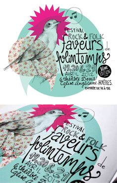 Faveurs de Printemps // Tandem  II Audrey Vuillequez, poster, graphic design ,graphisme, bird, patterns