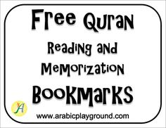 Free Quran Reading and Memorization Bookmarks by Arabic Playground Tajweed Quran, Quran Book, Learn Arabic Online, Arabic Phrases, Bilingual Classroom, Islam For Kids, Arabic Lessons, Islamic Studies, Social Studies Resources