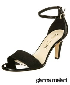 http://www.cityblis.com/item/8931 | Riviera - $205 by giannameliani | Riviera  sandals are a precious combination of linen and  patent leather finishes with their front strap, sexy ankle strap upper and gleaming covered heel. •A killer dress shoe for any event. •Adjustable ankle strap with back counter piece.•Heel Height: 3 in.•Patent Leather and Linen |  #