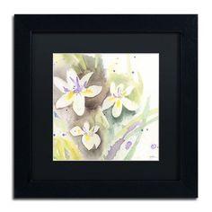 """Trademark Art Sunflower Blossom Bouquet by Sheila Golden Framed Painting Print Size: 11"""" H x 11"""" W x 0.5"""" D"""