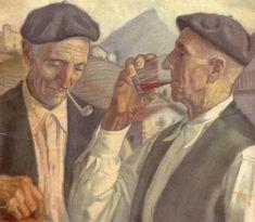 """""""Un trago de vino"""". Mauricio Flores Kaperotxipi"""