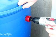 how to make DIY rain barrel