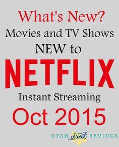 Netflix New Oct 2015