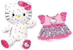 Build a Bear Workshop Hello Kitty 40th Anniversary 18 in Stuffed Plush Animal Sanrio Toy ** Check out the image by visiting the link.Note:It is affiliate link to Amazon.