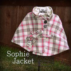 Sophie Poncho Jacke Kinder-Schnittmuster auf Etsy, 5,61€