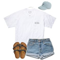 A fashion look from July 2016 featuring Southern Proper t-shirts, American Eagle Outfitters sandals and Kendra Scott necklaces. Browse and shop related looks.