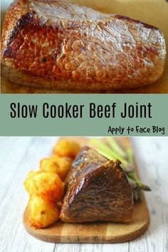 This recipe for Slow Cooker Beef Joint delivers on all fronts. Not only is it super delicious it is a super easy recipe too. The options are endless. Slow Cooker Beef Joint, Slow Cooked Beef, Slow Cooker Recipes, Crockpot Recipes, Cooking Recipes, Slow Cook Beef Recipes, Beef Roasting Joint, Meal Recipes, Slow Cooking