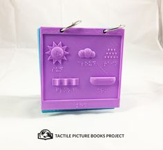 This is a key page to indicate reoccurring tactile elements in the pages of our customized tactile picture book.