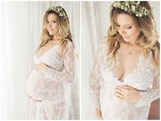 San Diego Maternity Photographer | maternity photos, lace gown, floral crown, feminine, maternity photos  www.MichellePoppPhotography.com