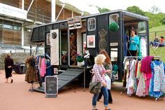 horse box clothes shop mobile vintage clothes shop unusual camper van unusual interiors horse box conversion www.crystalvintag... www.crystalvintag... twitter.com/... Gloria, the Crystal vintage dressing up box, as seen on George Clarke's Amazing Spaces series 2, ep 4 channel4