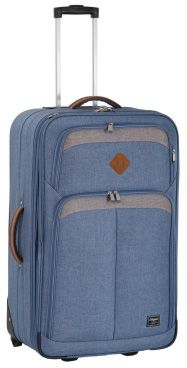 Elegant New Adventure Denim Trolley Cases  Features: Lightweight and Durable, Expandable Gusset, Lightweight Aluminium Push Button Trolley Handle, Corner Protectors, Denim Fabric with 190 D Lining, Two Front Pockets, Tonal Colour Zip and Webbing, No.10 Zip on all compartments   Available Colours: Grey & Black, Blue & Grey, Black & Grey Blue Grey, Black And Grey, Denim Fabric, New Adventures, Lady, Suitcase, Corner, Handle, Cases