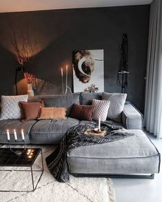 Stuuning Ideas Improve Your Living Room Lighting For Home Decor – Page 28 … - Warm home decor Dark Living Rooms, Room Design, Living Room Color, Living Room Decor Apartment, Mid Century Living Room, Apartment Living Room, Home Decor, Warm Home Decor, Cosy Living Room