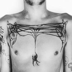 Dark spider by Nina Waldron (@ goatlumps) #sayagatatattoo #darkartists #blacktattooart #blackworkerssubmission #blacktattoomag #melbournetattoo #blackwork #blxckink #tttpublishing #goatlumps #ninawaldron