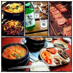 """@uberstip's photo: """"I don't know why but I really enjoy this spicy Korean food. Soju is a must for every food! :) #seoul #korea #food #travel"""""""
